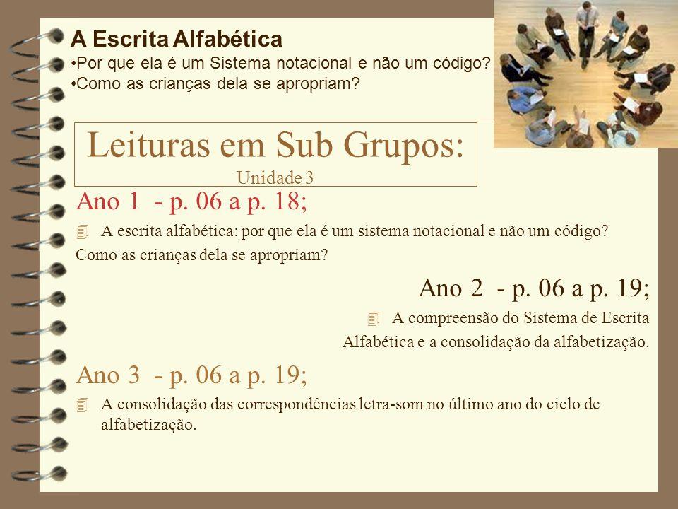 Leituras em Sub Grupos: Unidade 3