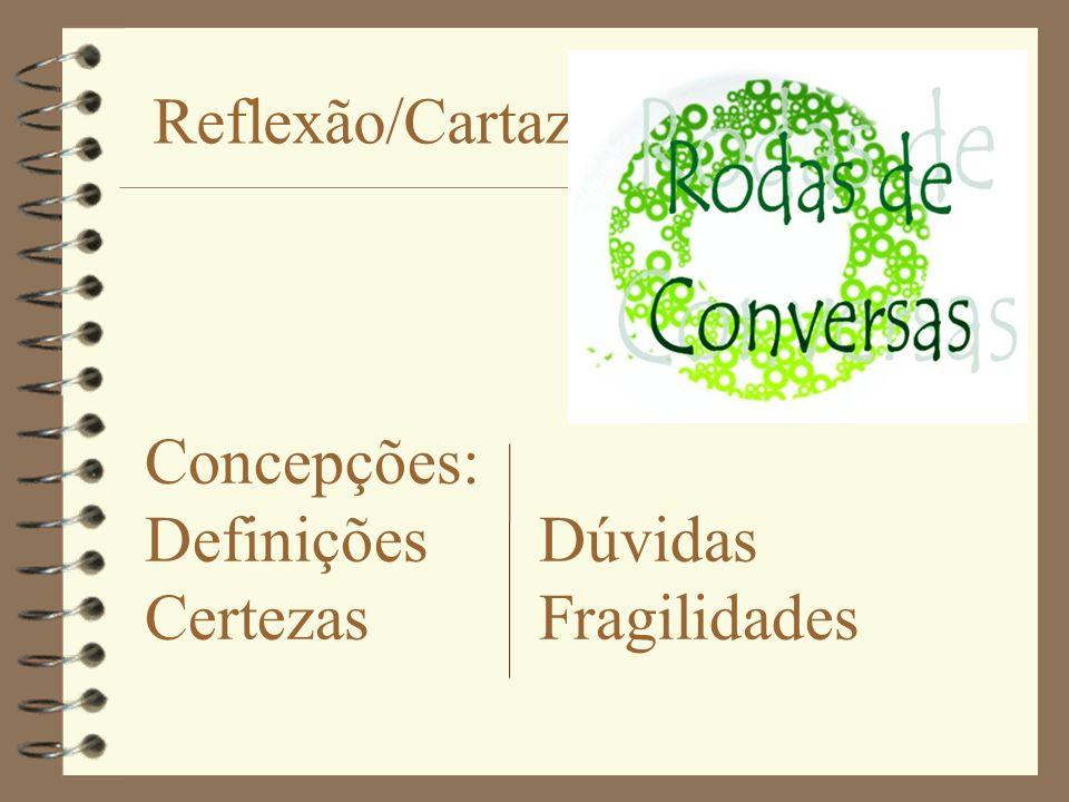 Reflexão/Cartaz Concepções: Definições Dúvidas Certezas Fragilidades