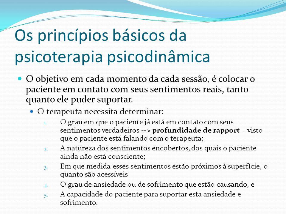 Os princípios básicos da psicoterapia psicodinâmica