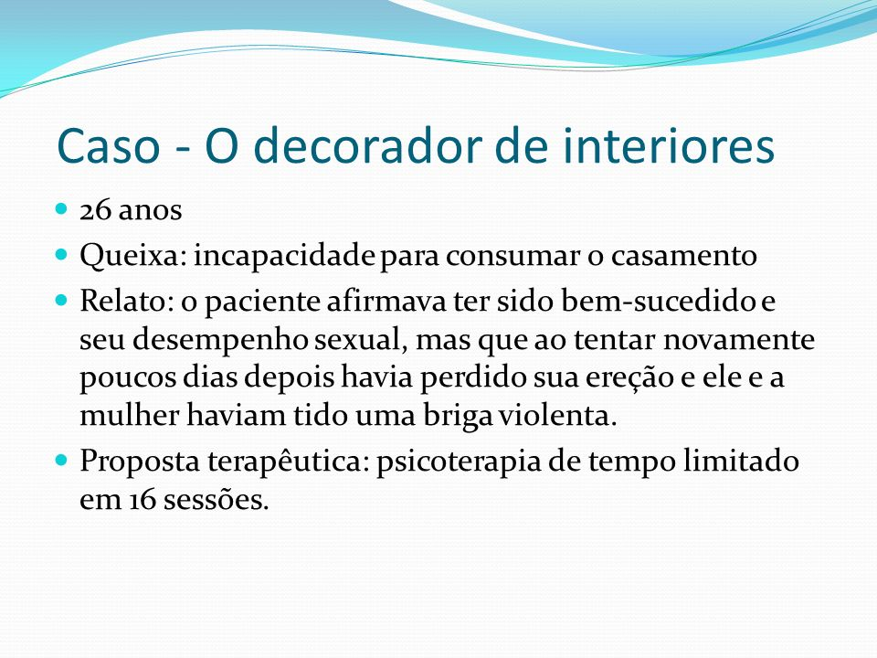 Caso - O decorador de interiores
