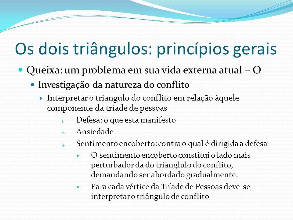 Os dois triângulos: princípios gerais