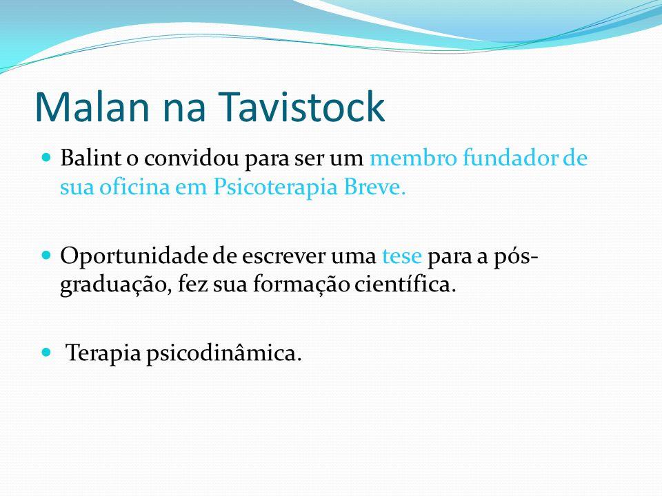 Malan na TavistockBalint o convidou para ser um membro fundador de sua oficina em Psicoterapia Breve.