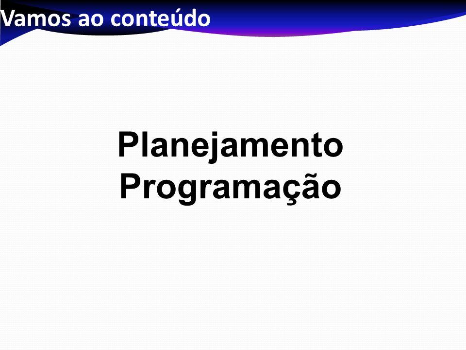 Planejamento Programação