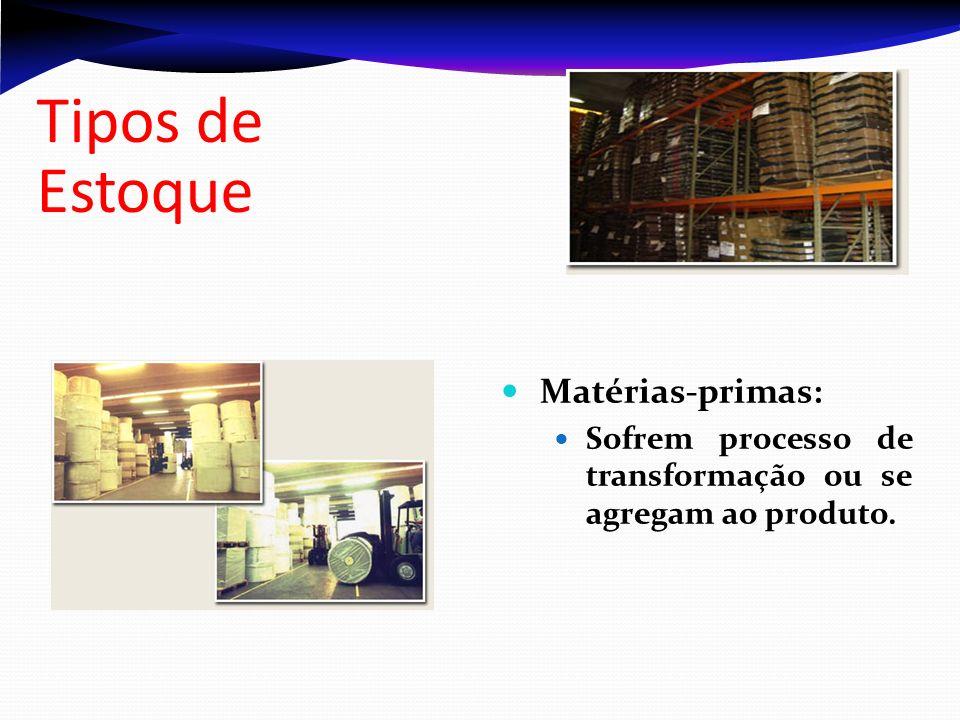 Tipos de Estoque Matérias-primas: