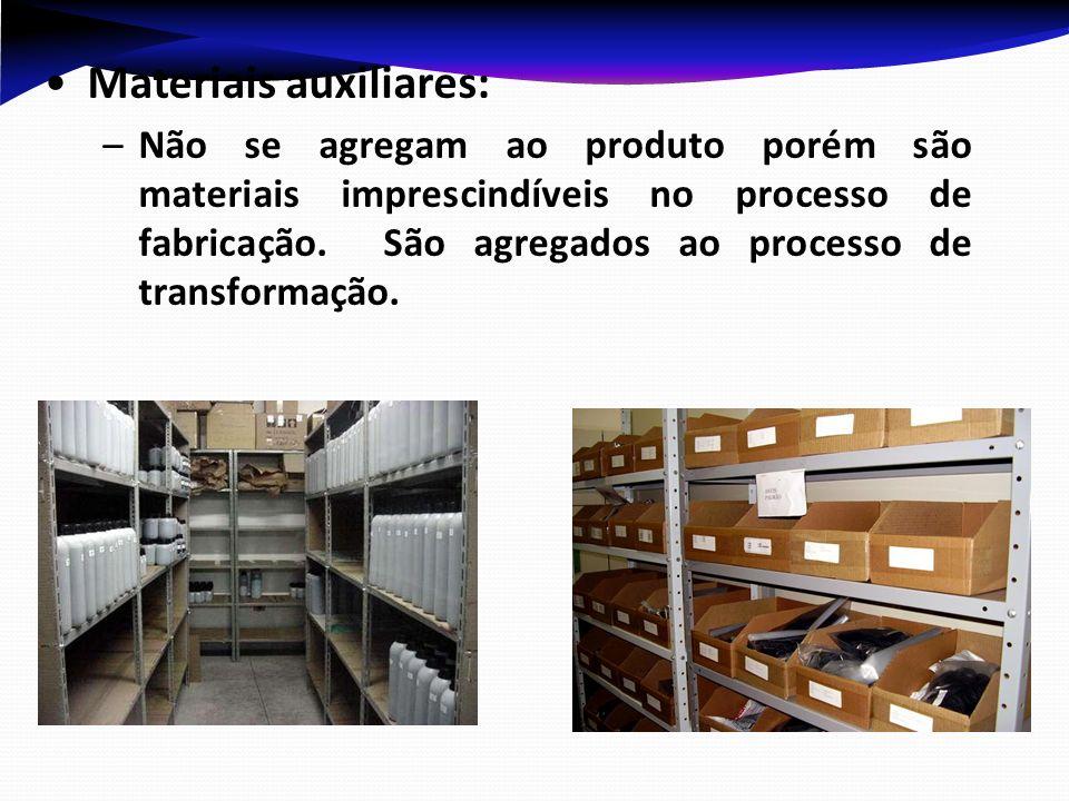 Materiais auxiliares: