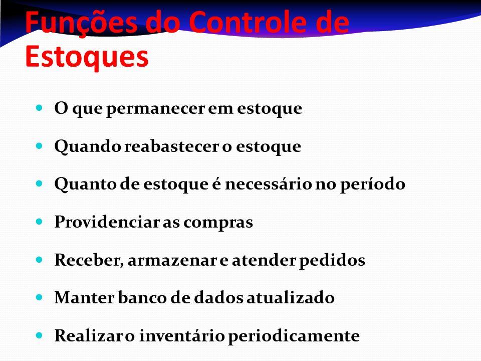 Funções do Controle de Estoques