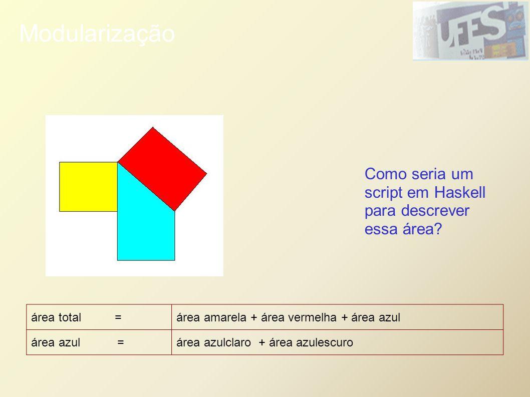 Modularização Como seria um script em Haskell para descrever