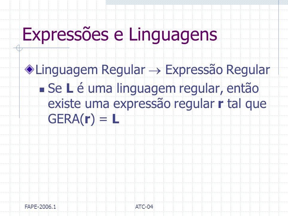 Expressões e Linguagens