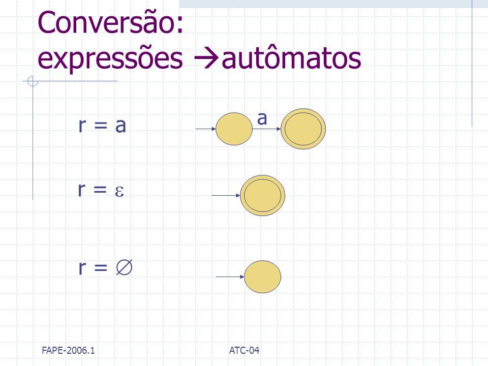 Conversão: expressões autômatos