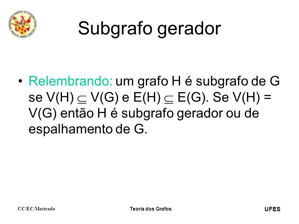 Subgrafo gerador