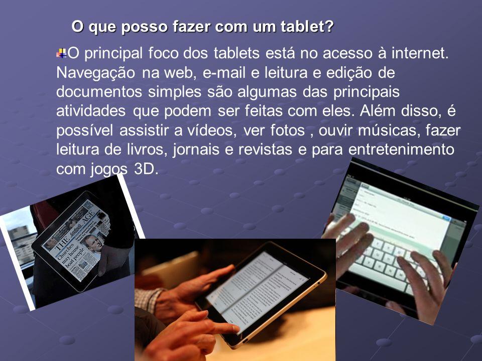 O que posso fazer com um tablet