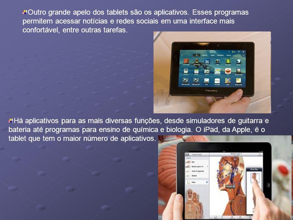 Outro grande apelo dos tablets são os aplicativos