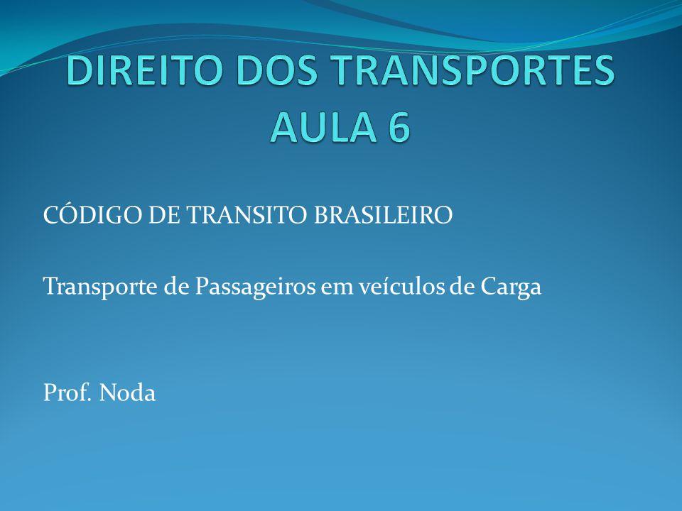 DIREITO DOS TRANSPORTES AULA 6