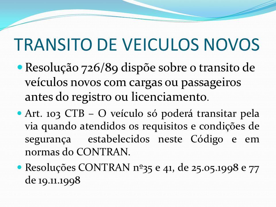TRANSITO DE VEICULOS NOVOS