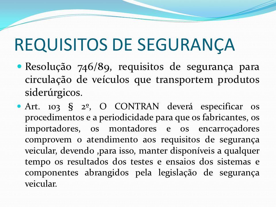 REQUISITOS DE SEGURANÇA