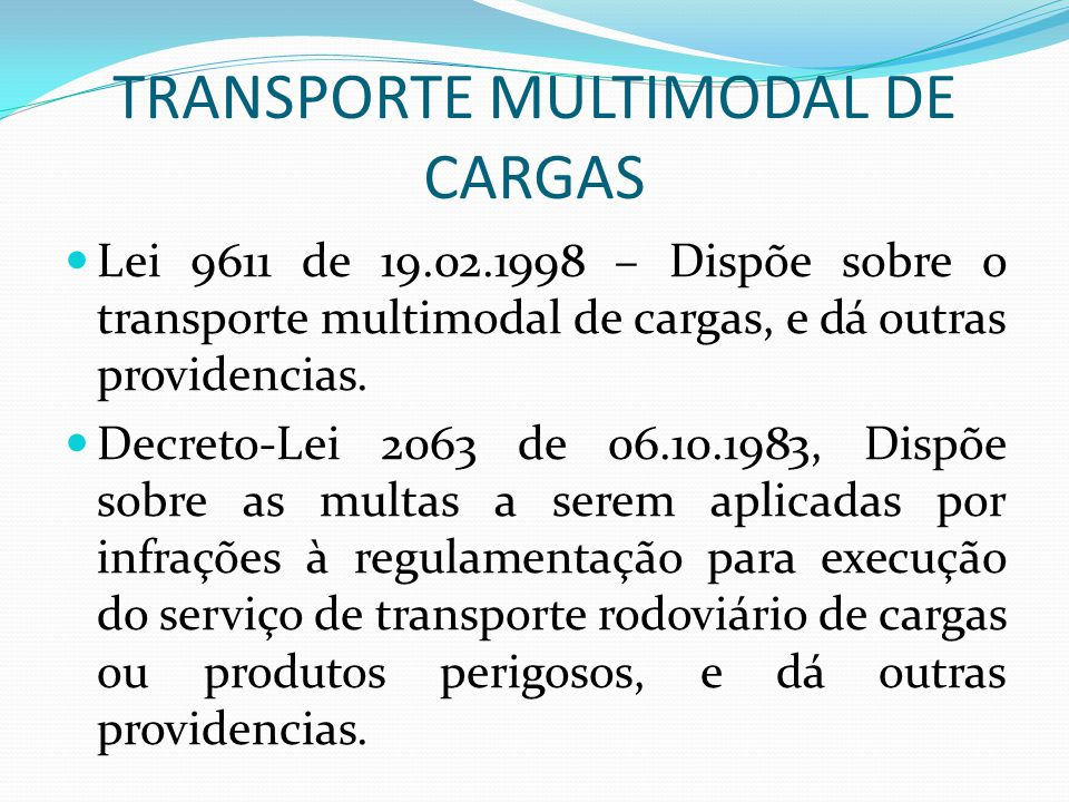 TRANSPORTE MULTIMODAL DE CARGAS