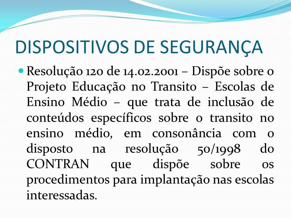DISPOSITIVOS DE SEGURANÇA