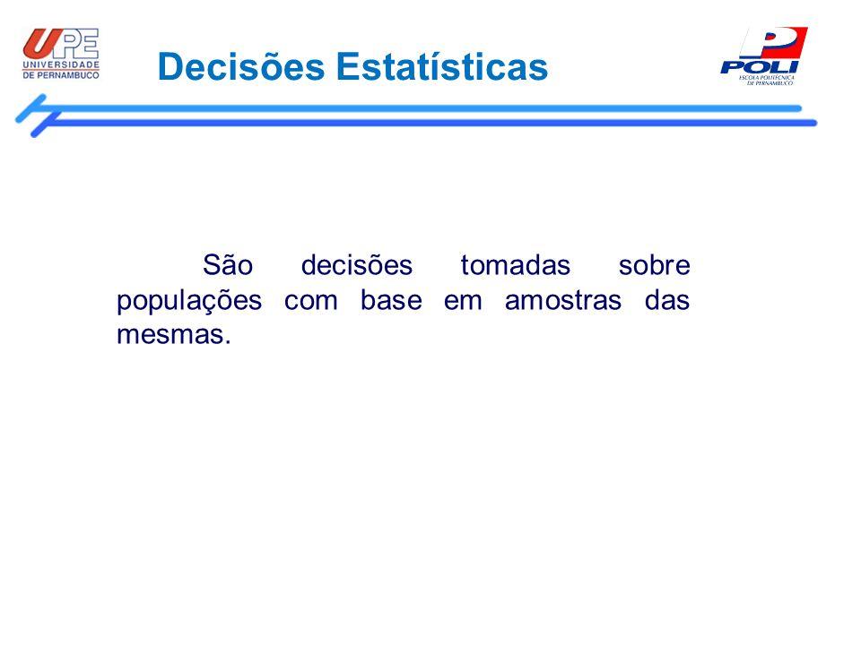 Decisões Estatísticas