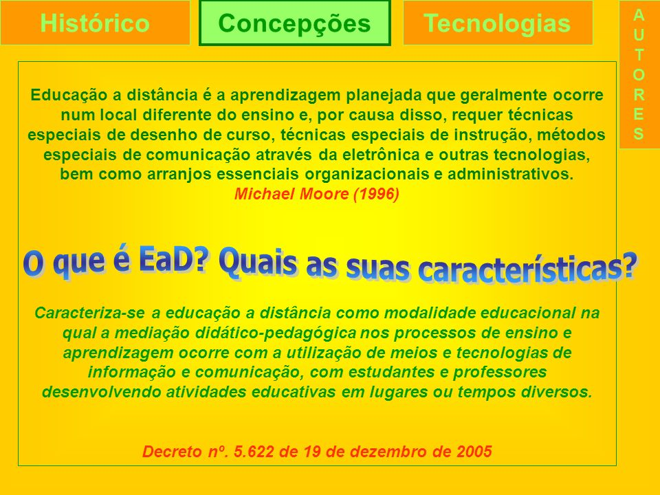 O que é EaD Quais as suas características