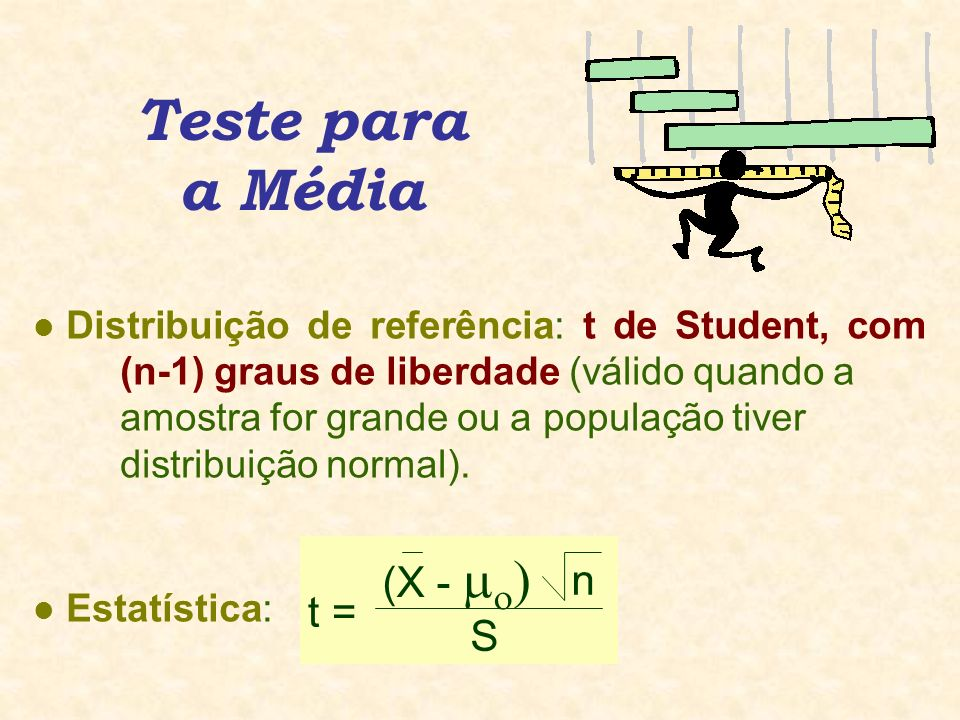 Teste para a Média (X -  n t = S