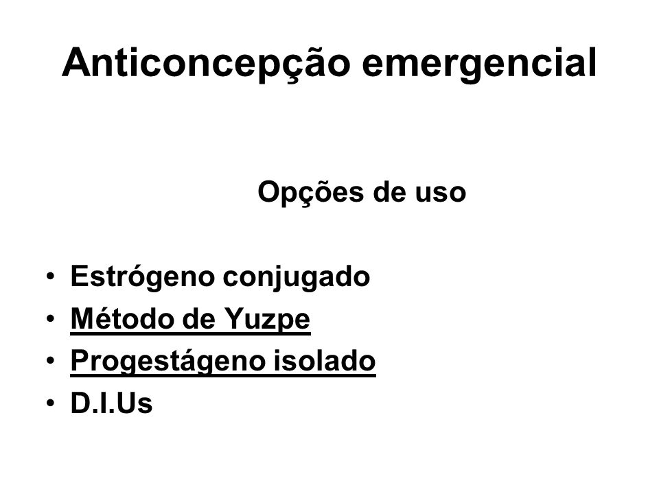 Anticoncepção emergencial