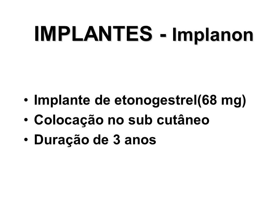 IMPLANTES - Implanon Implante de etonogestrel(68 mg)