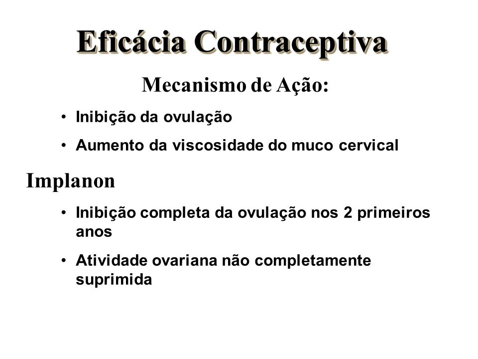 Eficácia Contraceptiva