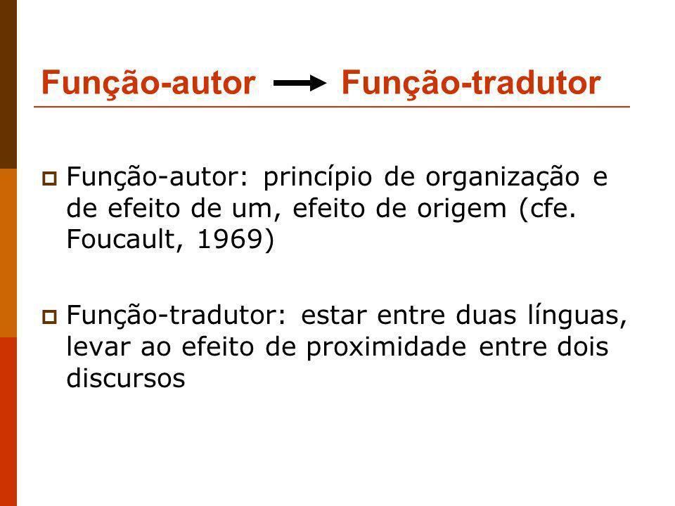 Função-autor Função-tradutor