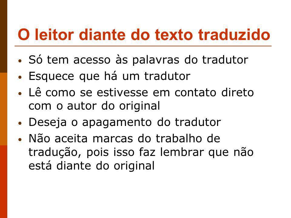O leitor diante do texto traduzido