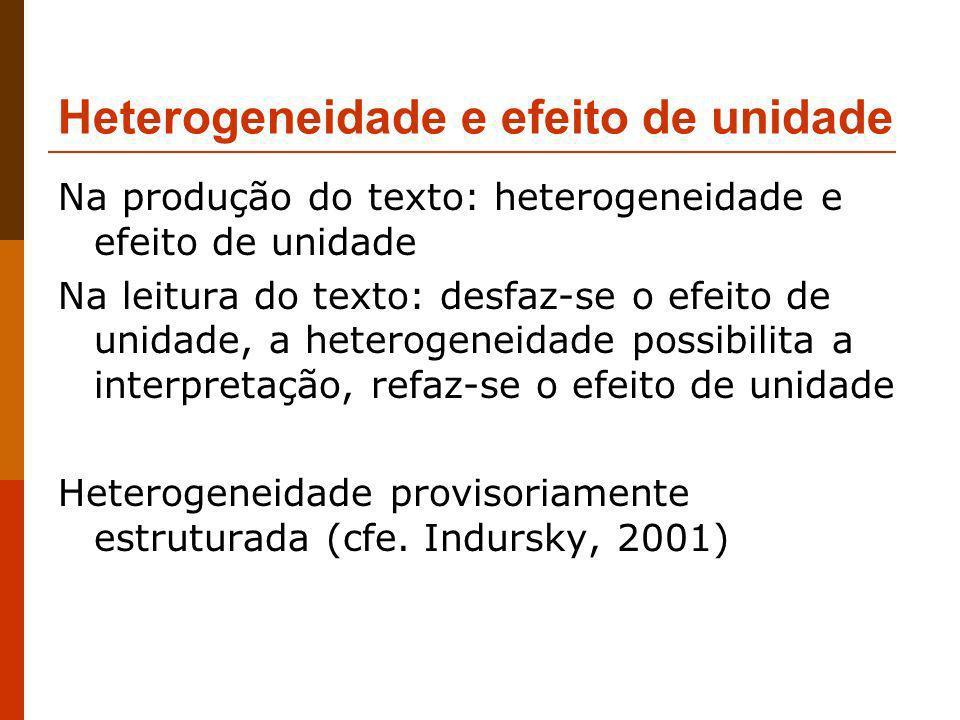 Heterogeneidade e efeito de unidade