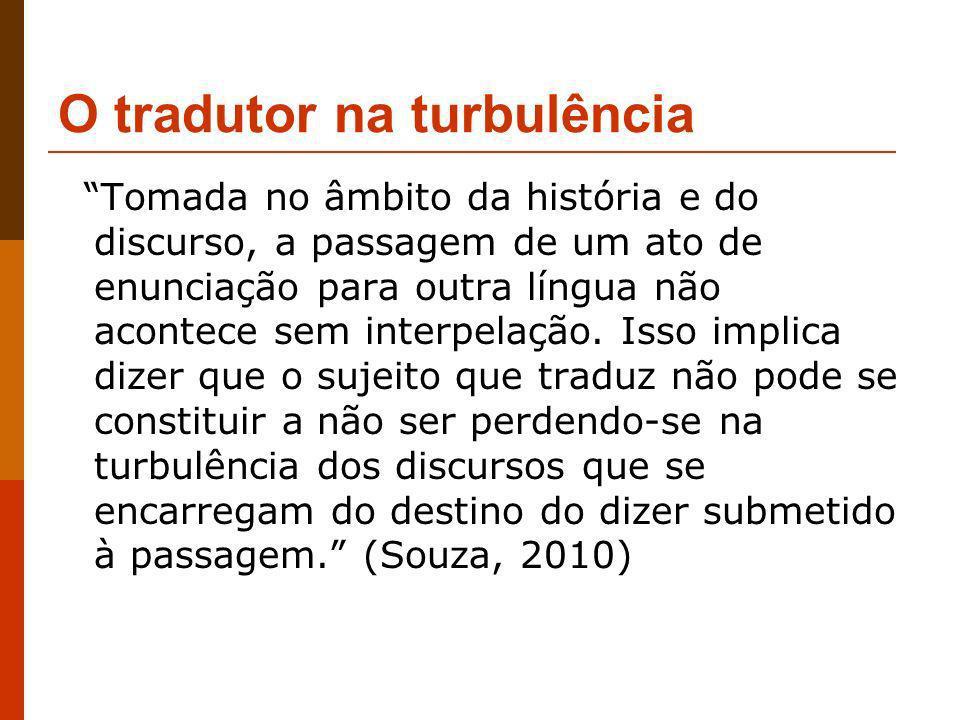 O tradutor na turbulência