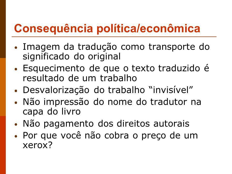 Consequência política/econômica