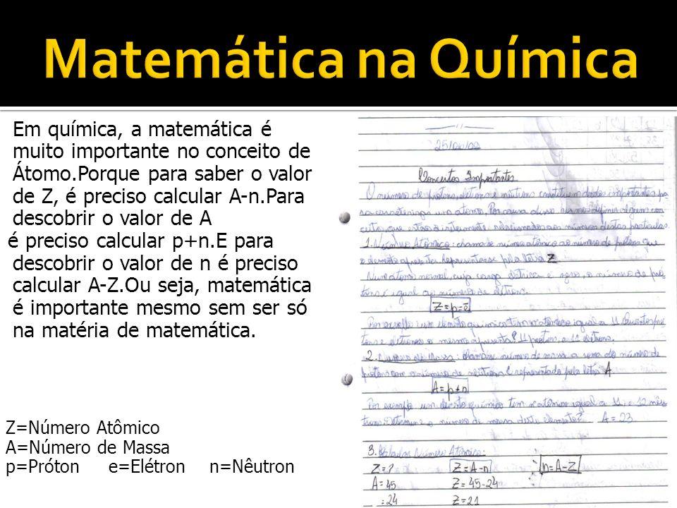 Matemática na Química