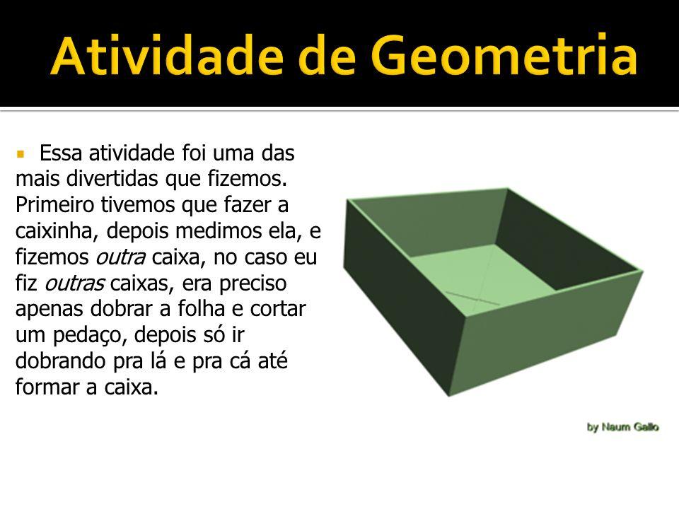 Atividade de Geometria
