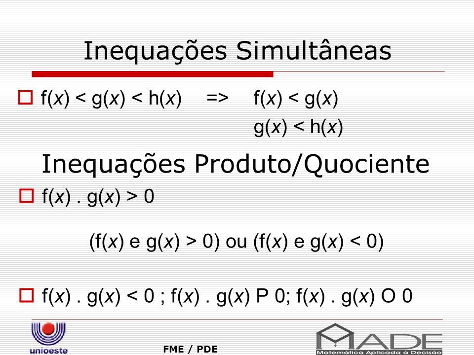 Inequações Simultâneas