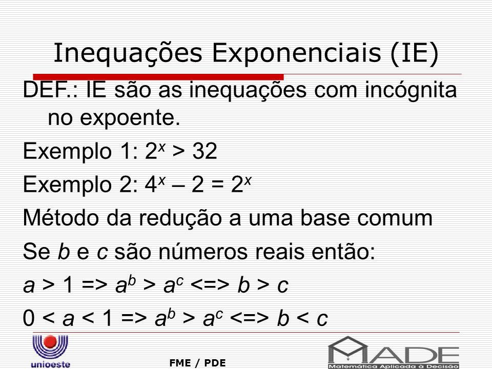 Inequações Exponenciais (IE)