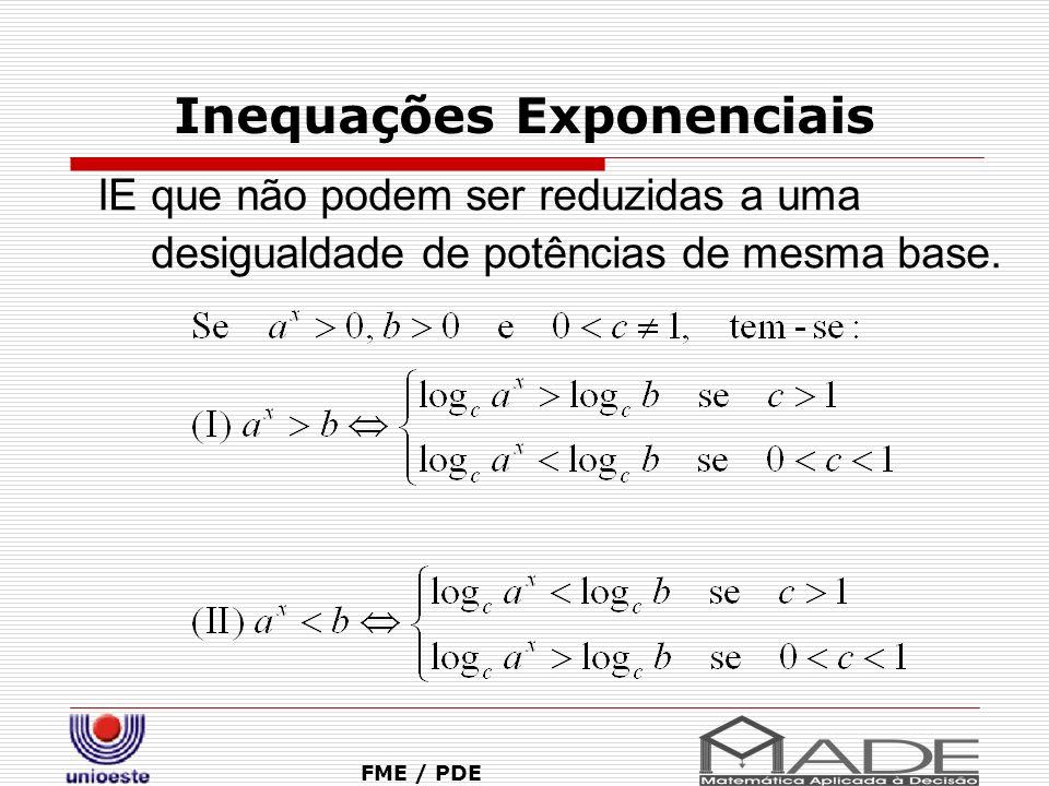 Inequações Exponenciais