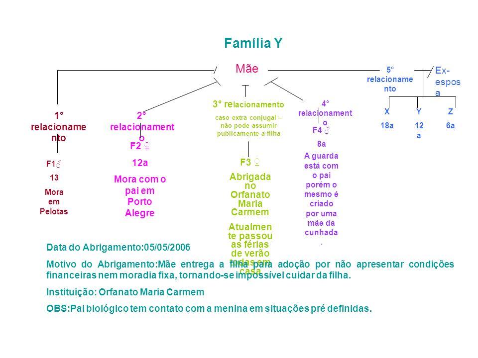 Família Y Mãe Ex-esposa 3° relacionamento 1° relacionamento