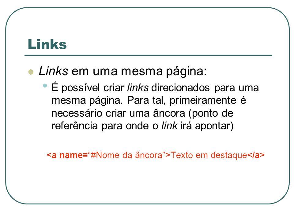 <a name= #Nome da âncora >Texto em destaque</a>