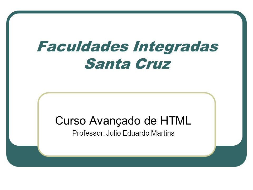 Faculdades Integradas Santa Cruz