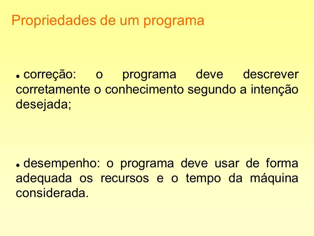 Propriedades de um programa