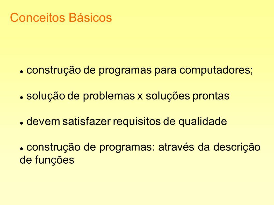 Conceitos Básicos construção de programas para computadores;