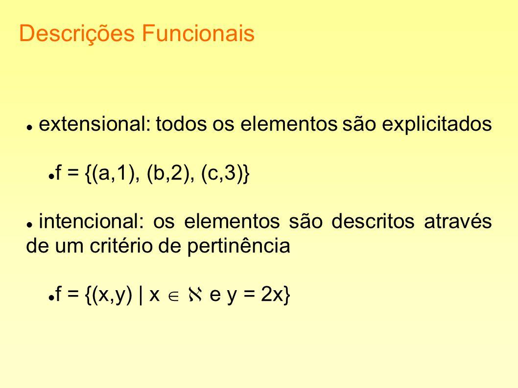 Descrições Funcionais