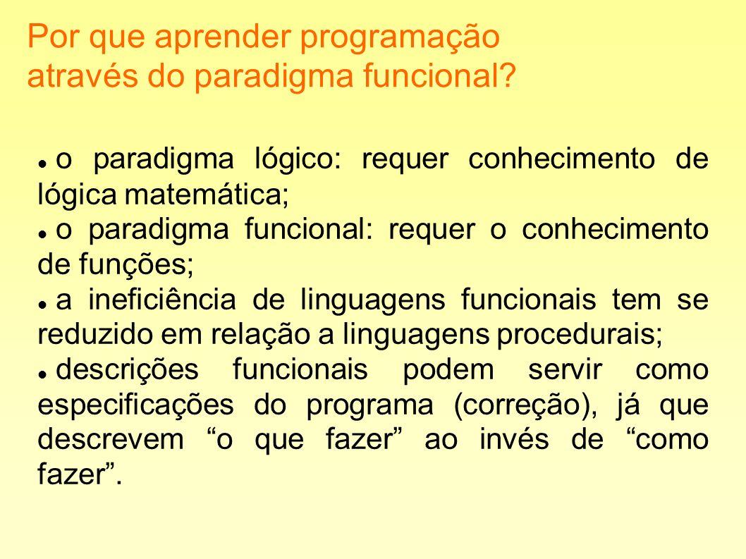 Por que aprender programação através do paradigma funcional