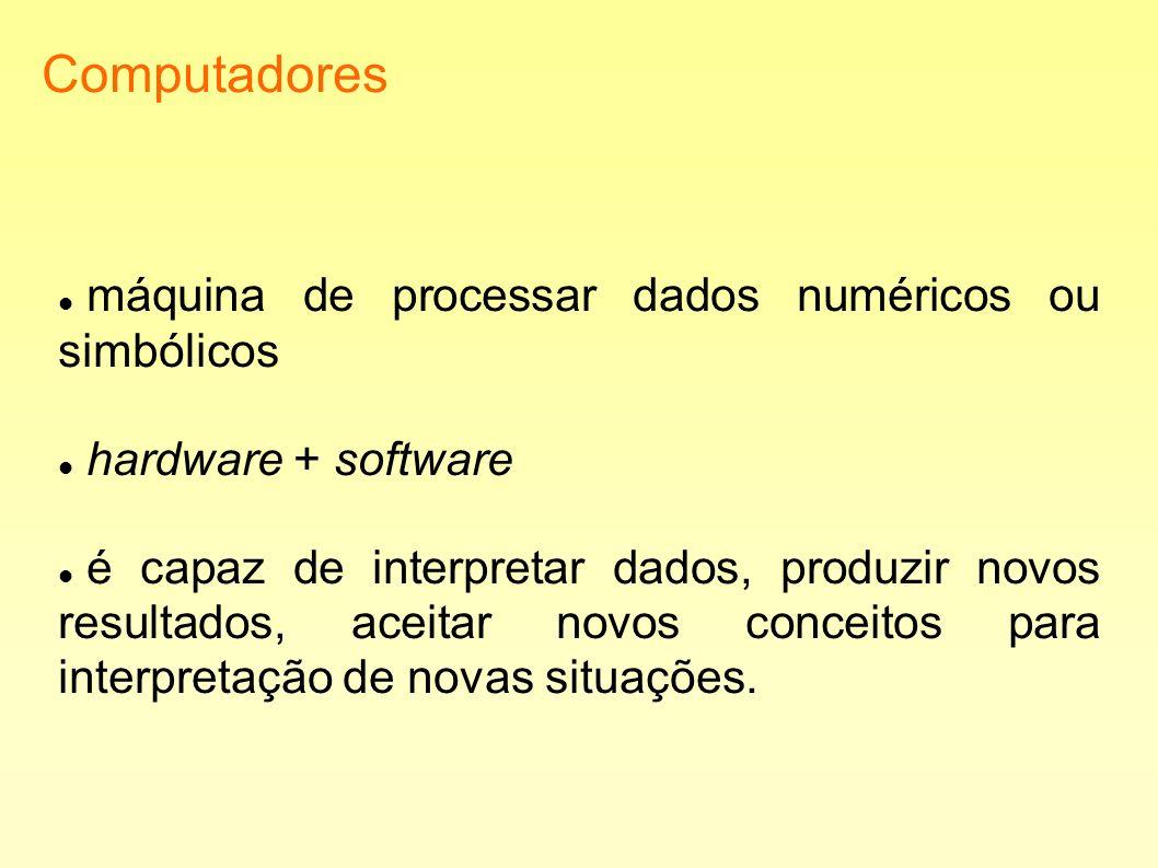 Computadores máquina de processar dados numéricos ou simbólicos