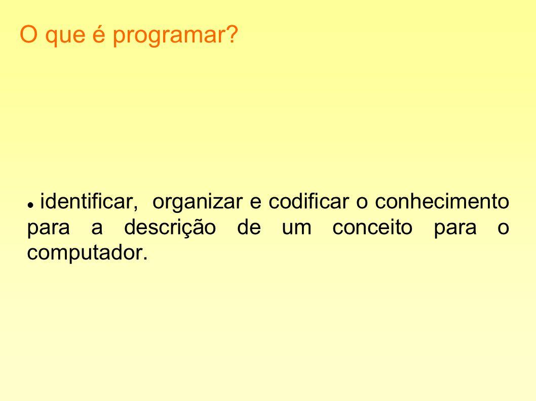 O que é programar.