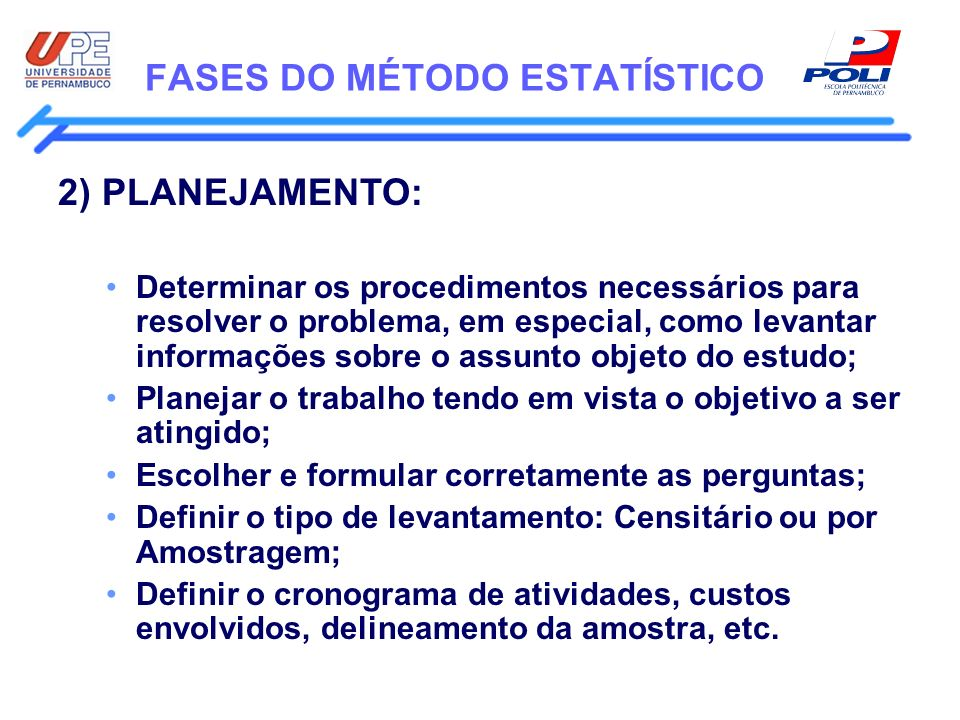 FASES DO MÉTODO ESTATÍSTICO