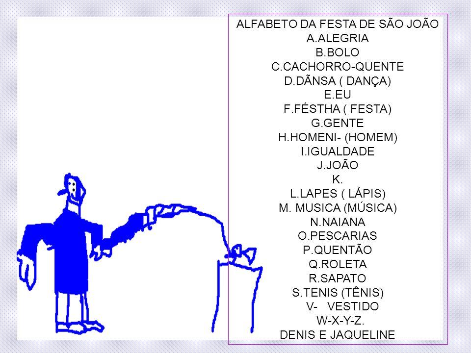 ALFABETO DA FESTA DE SÃO JOÃO