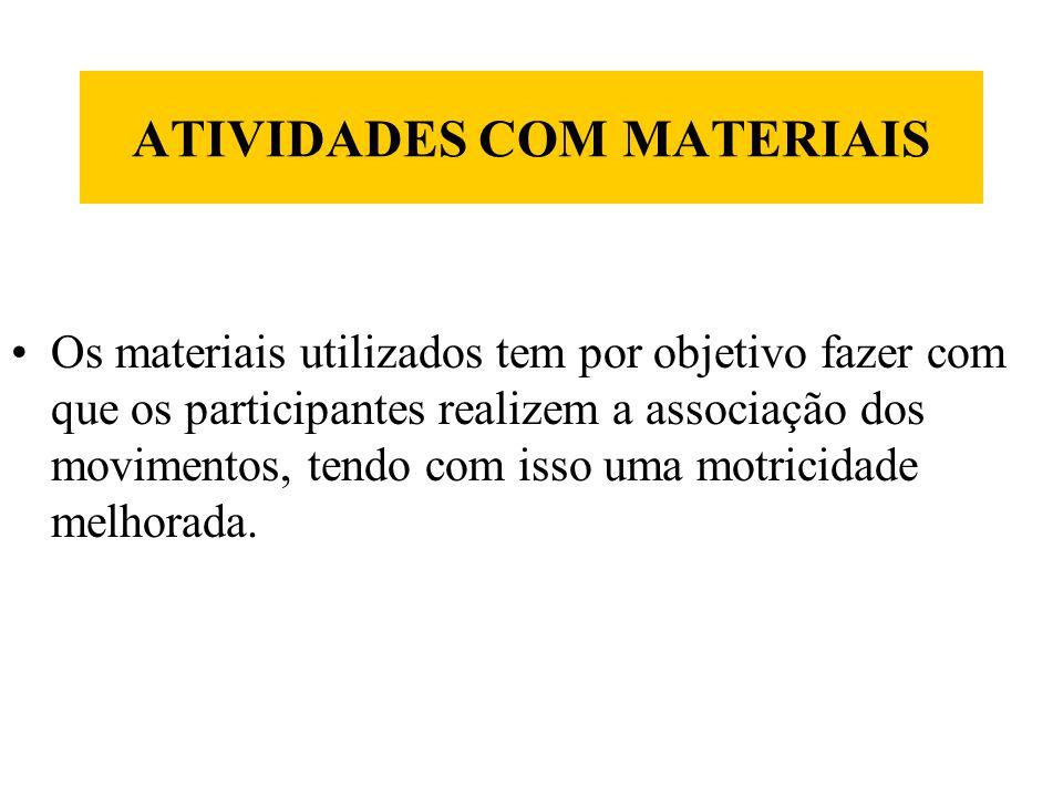 ATIVIDADES COM MATERIAIS
