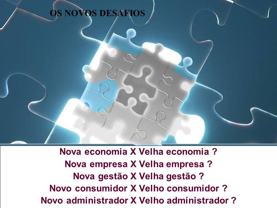Nova economia X Velha economia Nova empresa X Velha empresa